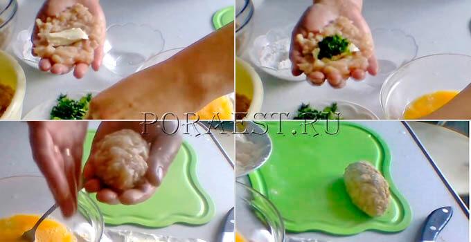 slepit-kotletu-s-maslom-zelenju