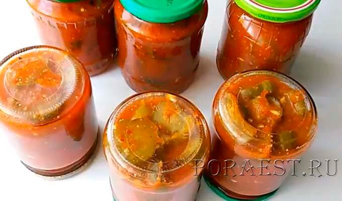 lecho-s-ogurcami-s-tomatnoj-pastoj