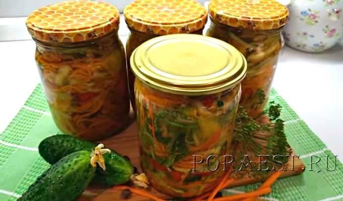 salat-iz-ogurcov-i-kabachkov-s-pripravoj-dlja-korejskoj-morkovi